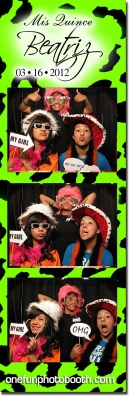 Betrice's Quinceañera Photo booth