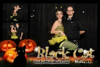 Black Cat Ball Halloween Photo Booth