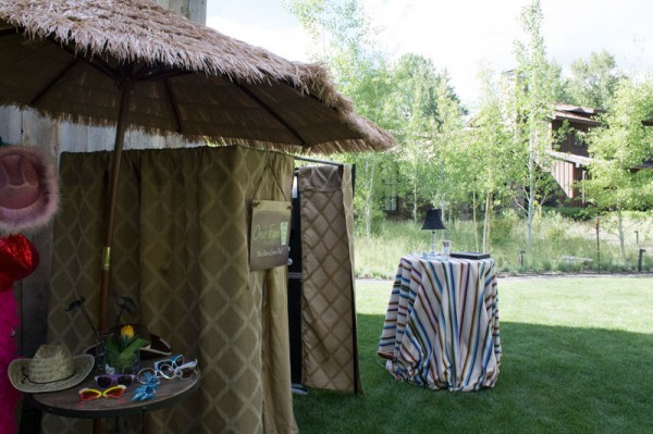 A rustic cowboy island themed Sun Valley Photo Booth